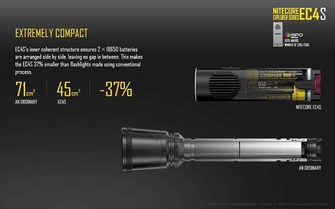 2750 Lumens w//4x FREE CR123A Batteries Jetbeam BC40GT CREE XHP50 LED Flashlight
