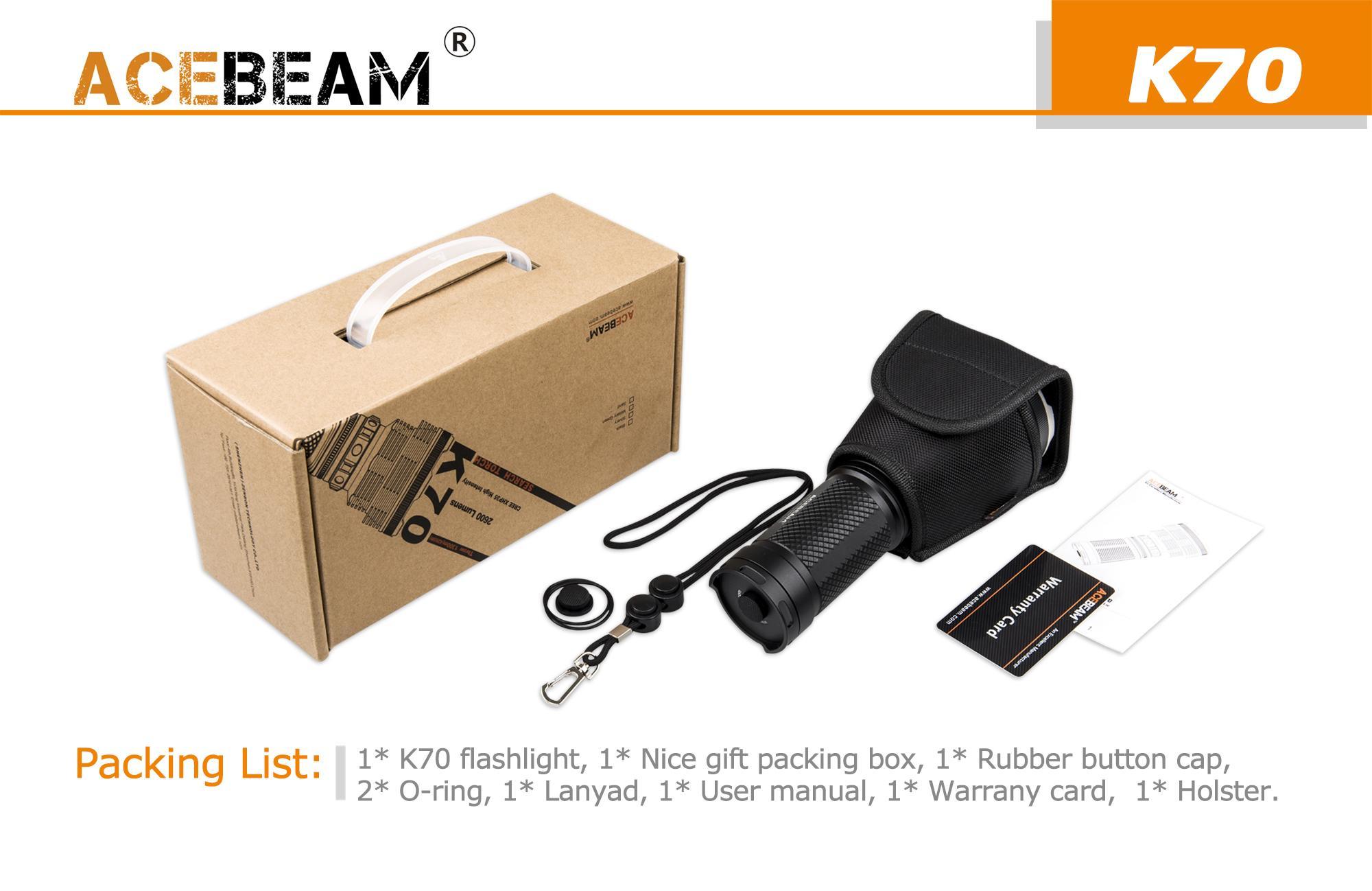 acebeam k70 flashlightcree hi led2600 lumens 1300m beam distance rh andrew amanda com Trailer Wiring Harness Engine Wiring Harness